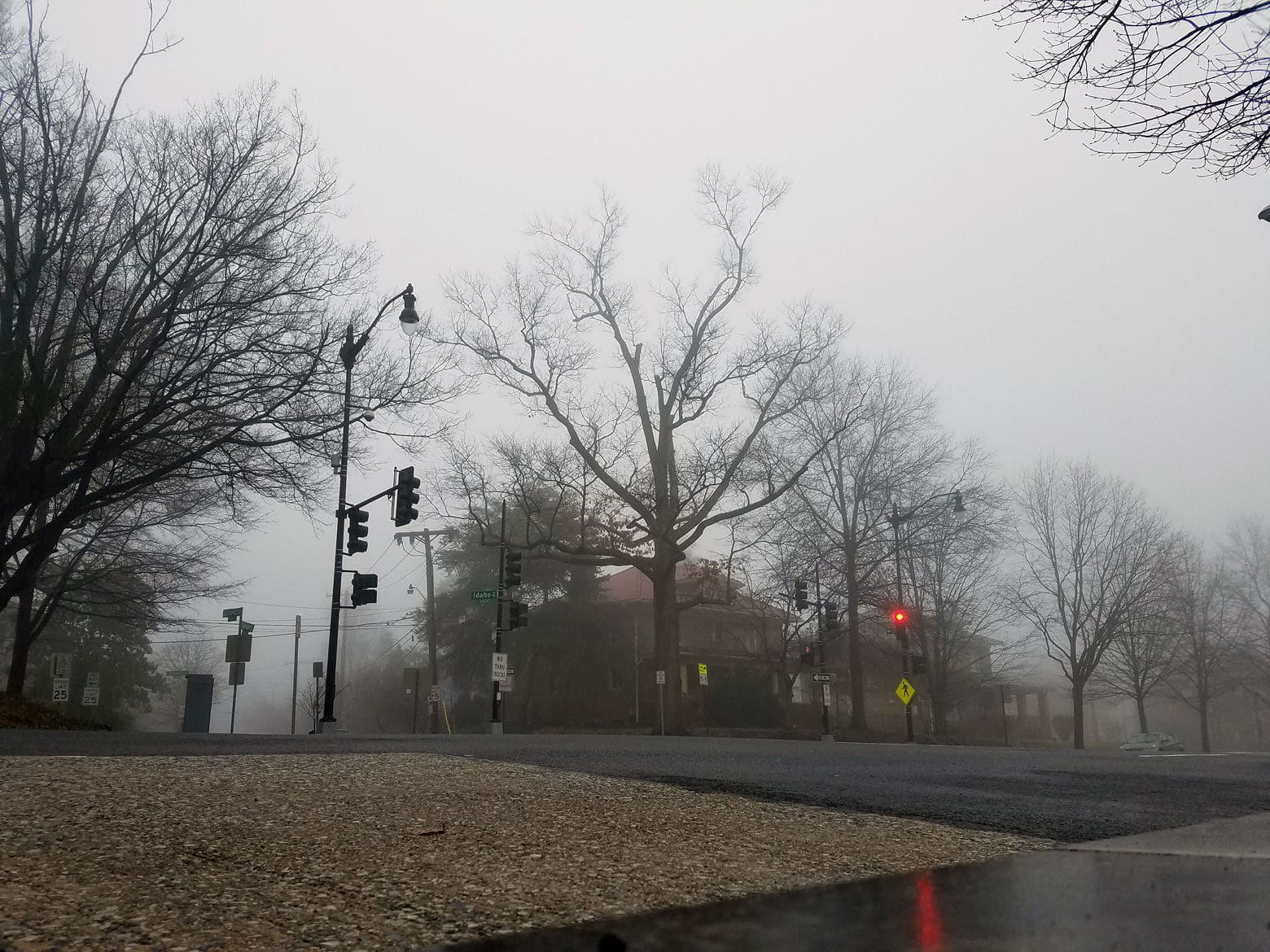 Fog greeted residents around the area early Saturday morning. (WTOP/Will Vitka)