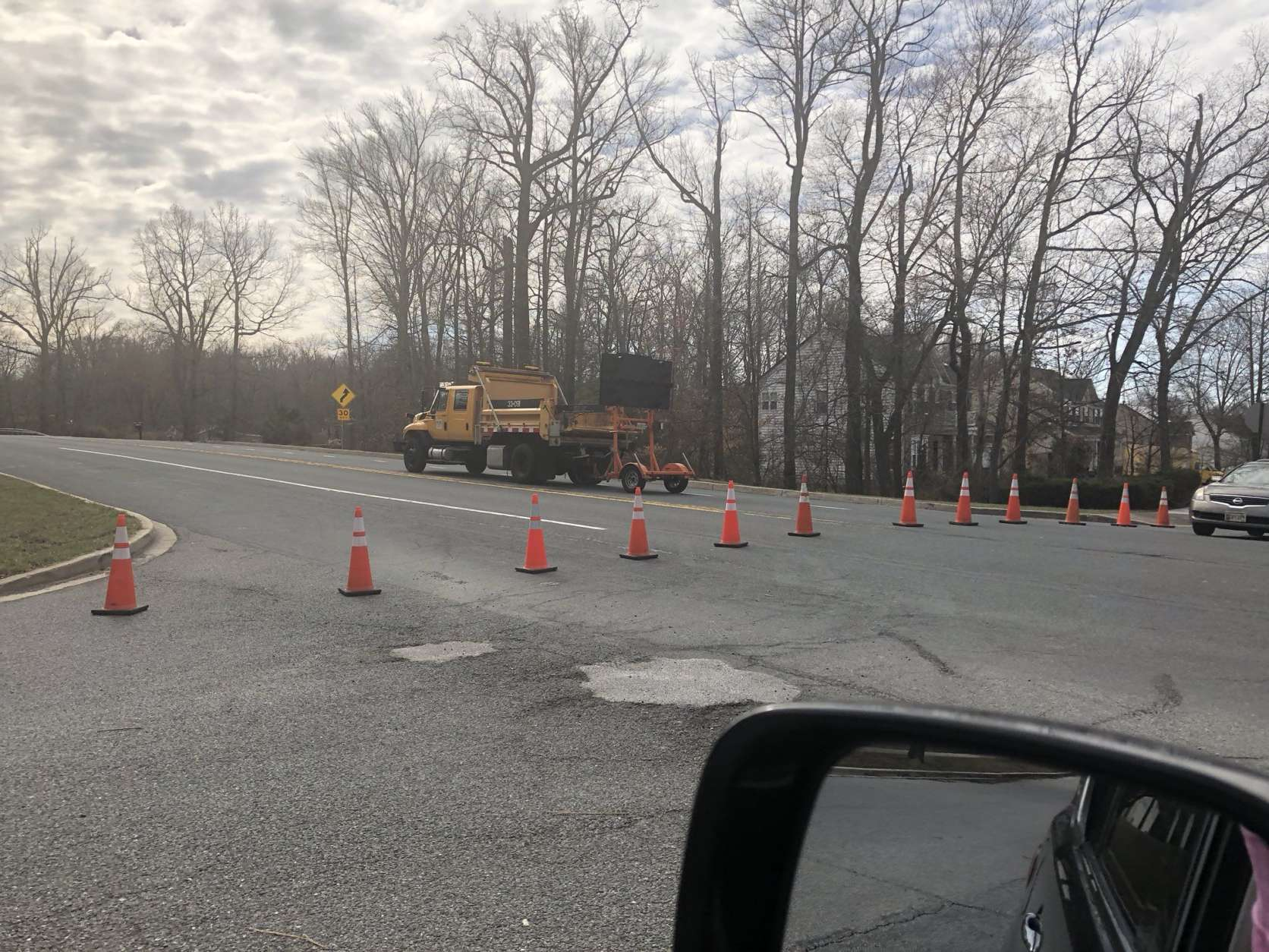 Route 197 in Maryland is blocked in both directions by a downed tree about a half-mile past BW Parkway. (Courtesy Missy Krissy via Twitter)