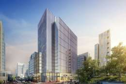 Demolition is underway to make way for Boston Properties' 17-story tower, the future home of Leidos Holdings. (Boston Properties)