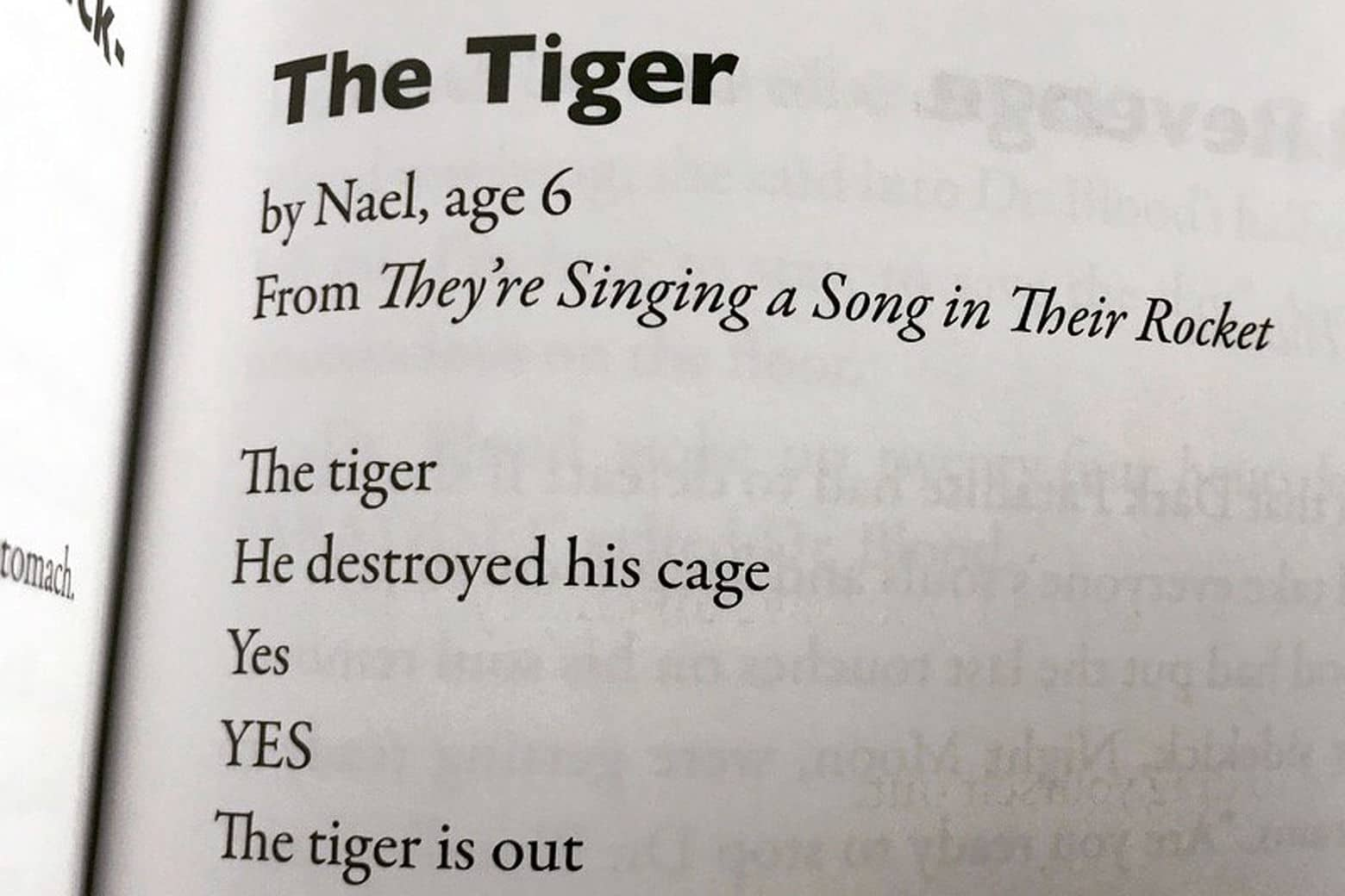 6-year-old's 'Tiger' poem takes Twitter by storm | WTOP