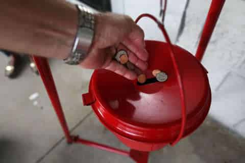 Salvation Army says Red Kettle donations fell for 2nd year in row