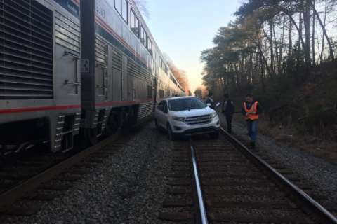 Amtrak train strikes car on tracks in Va. after man makes wrong turn