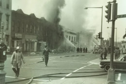 A series of fires near Seventh and P streets. (Courtesy D.C. Fire and EMS Museum)