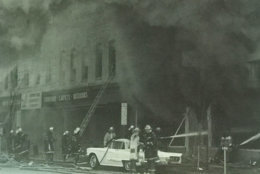 Thick black smoke billowing from a fire. (Courtesy D.C. Fire and EMS Museum)