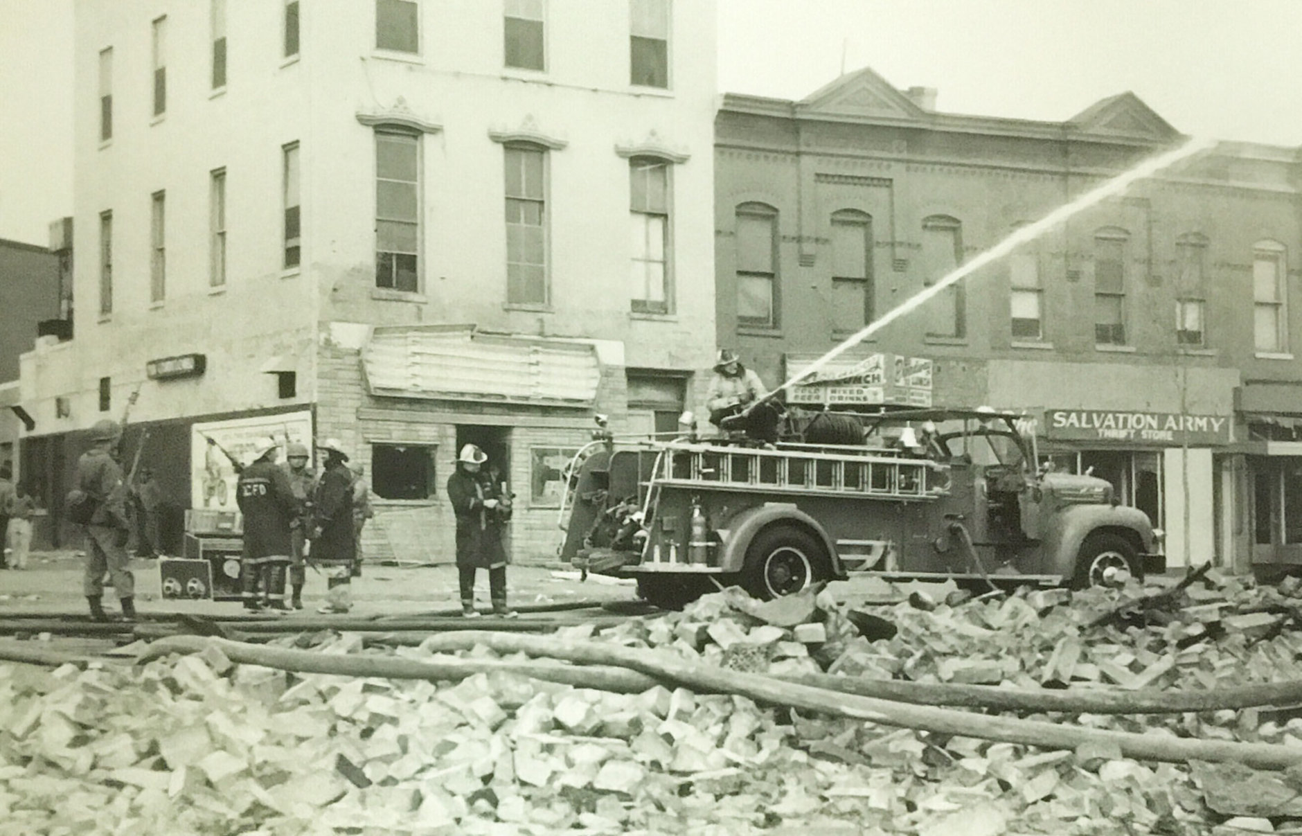 The corner of Seventh and P streets. (Courtesy D.C. Fire and EMS Museum)