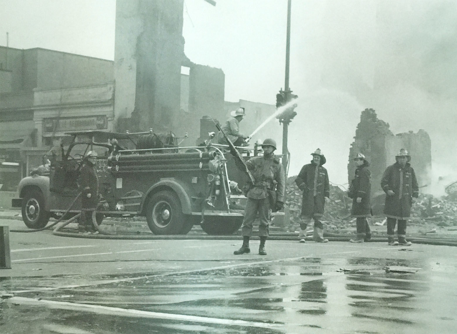 Seventh and P streets. (Courtesy D.C. Fire and EMS Museum)