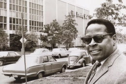 Journalist Paul Delaney's first day at The Washington Evening Star in 1967. Delaney had come to D.C. to cover the new city government for The Star. On, April 4, 1968, he would hop in the back of the mayor's car as he toured the damage from an initial outbreak of rioting.   (Courtesy Paul Delaney)