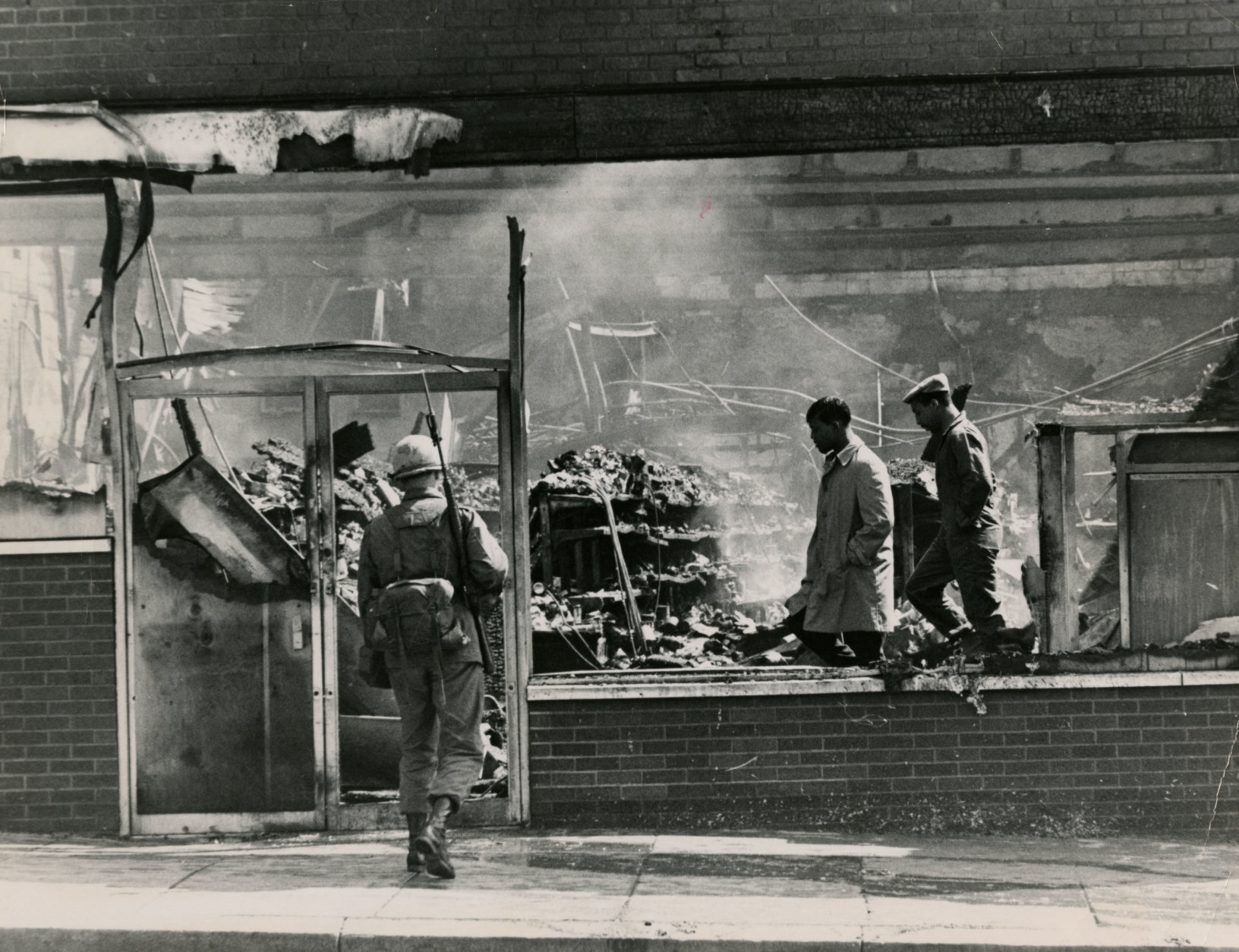 National Guard and federal troops were called into the city amid spiraling violence the day after King's assassination. All told, more than 12,000 troops would patrol D.C. -- the largest federal occupation of an American city since the Civil War. Reprinted with permission of the DC Public Library, Star Collection, © Washington Post.