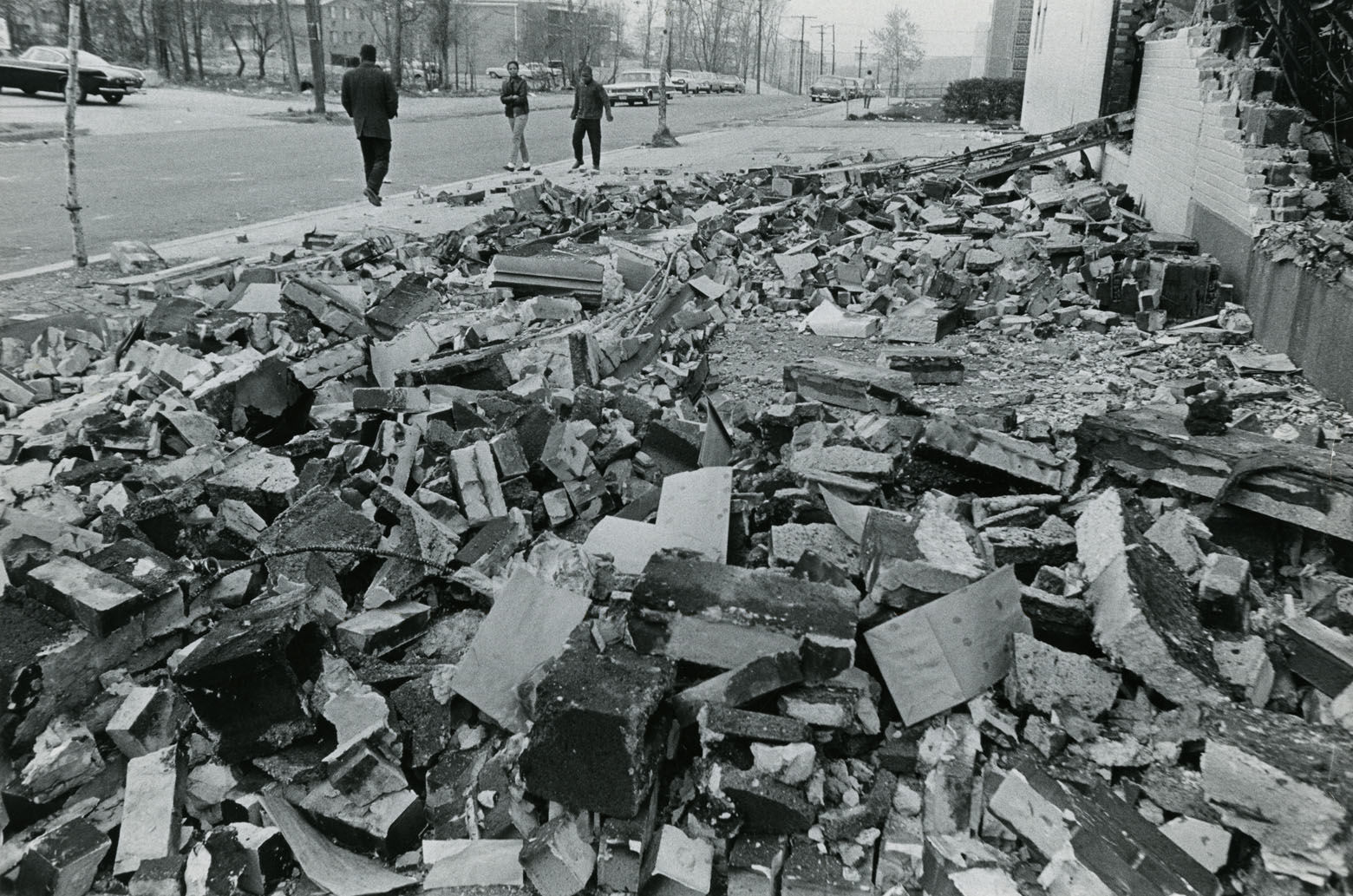 A pile of rubble mars a D.C. street corner. Reprinted with permission of the DC Public Library, Star Collection, © Washington Post.