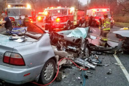 D.C. Fire and EMS at the scene of a serious crash Thursday morning on Rock Creek Parkway. (Courtesy D.C. Fire and EMS)