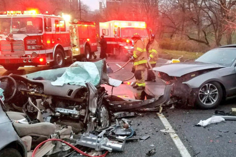2 released from hospital after Rock Creek Parkway wrong-way crash