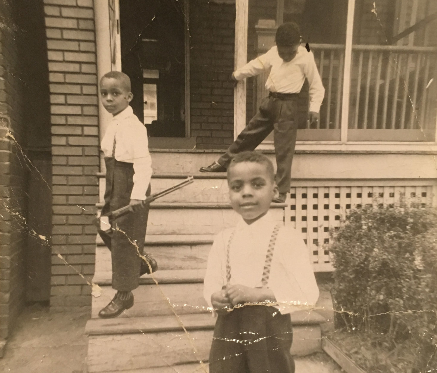 The Lawson boys in 1959. Vincent (center) was 15 when he went missing amid the upheaval during the 1968 riots in D.C. In 1971, construction workers discovered his remains inside a fire-damaged H Street warehouse that had been boarded up since the riots. (Courtesy Vanessa Lawson Dixon)