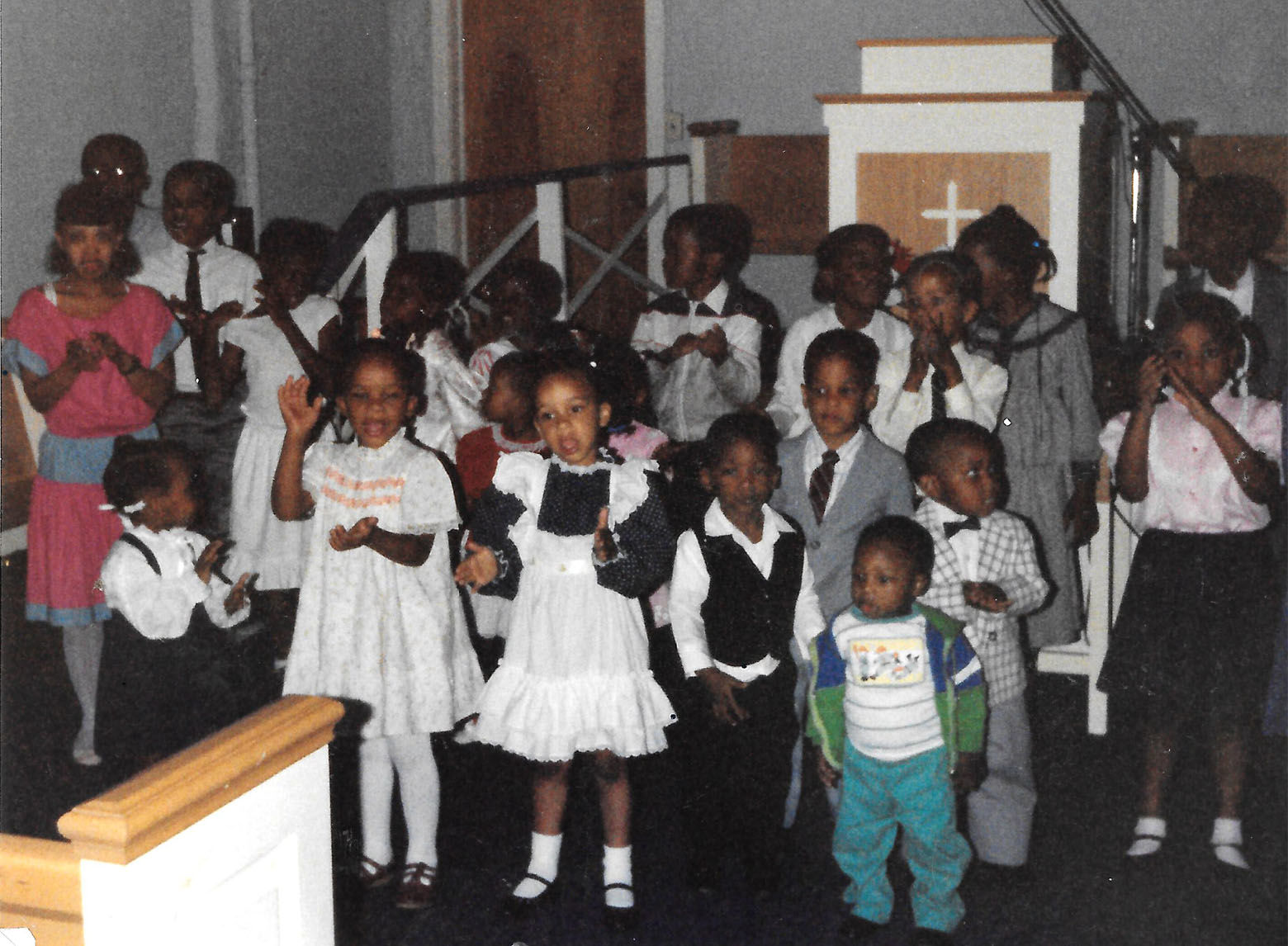 Mount Joy's congregation has always included a lot of children. (Courtesy Chaye Benjamin/Mount Joy Soul Saving Station)