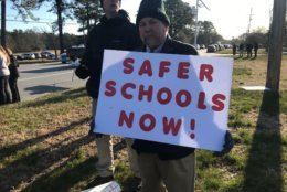 A number of parents said they feel like their concerns over school safety are being ignored. (WTOP/Kyle Cooper)