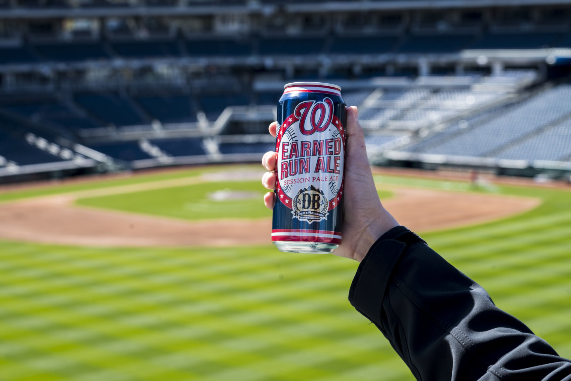 Devils Backbone debuted Earned Run Ale as a draft at its Left Field Lounge bar at Nationals Park last year. (Credit: Devils Backbone)
