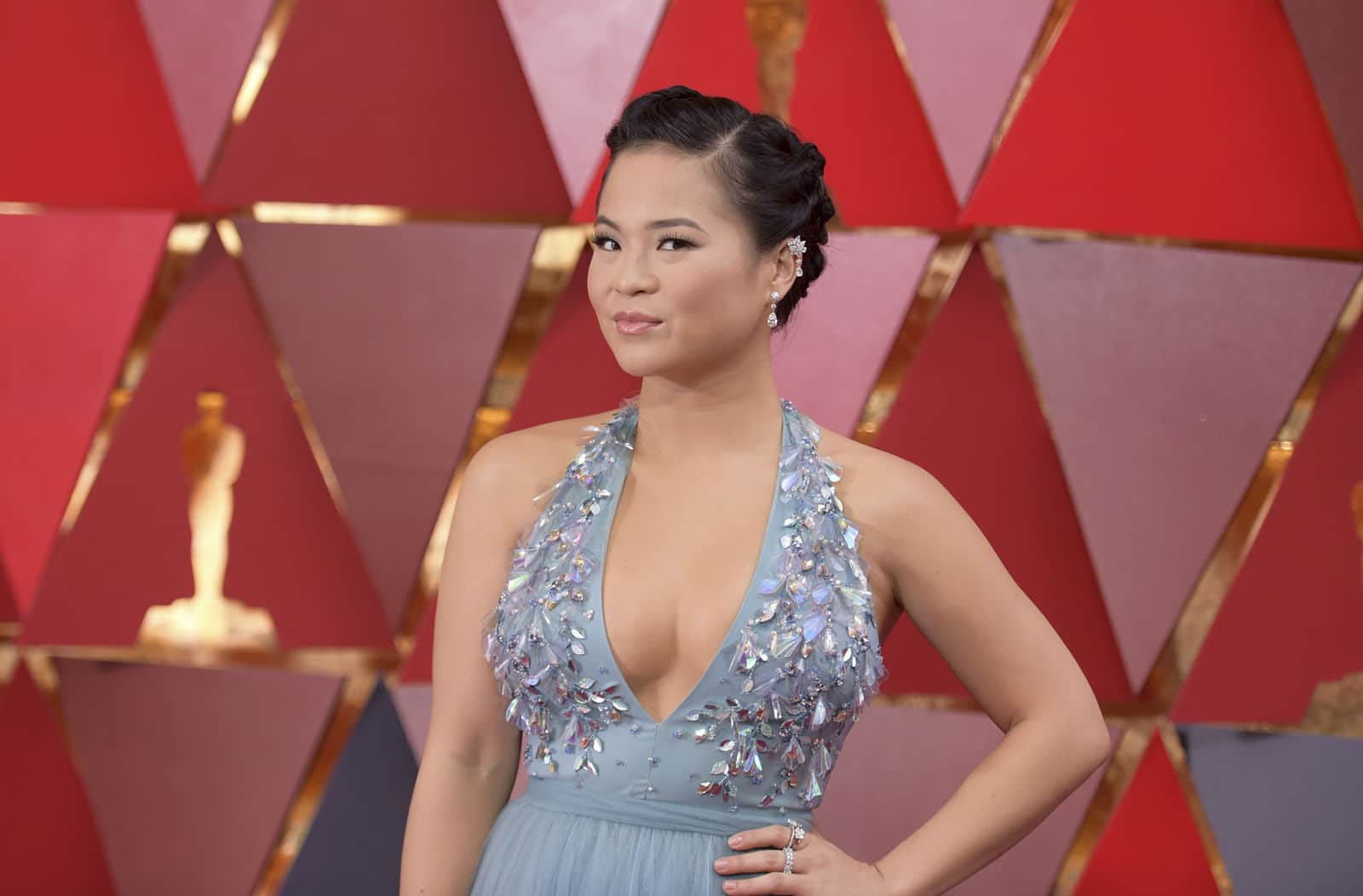 Kelly Marie Tran arrives at the Oscars on Sunday, March 4, 2018, at the Dolby Theatre in Los Angeles. (Photo by Richard Shotwell/Invision/AP)