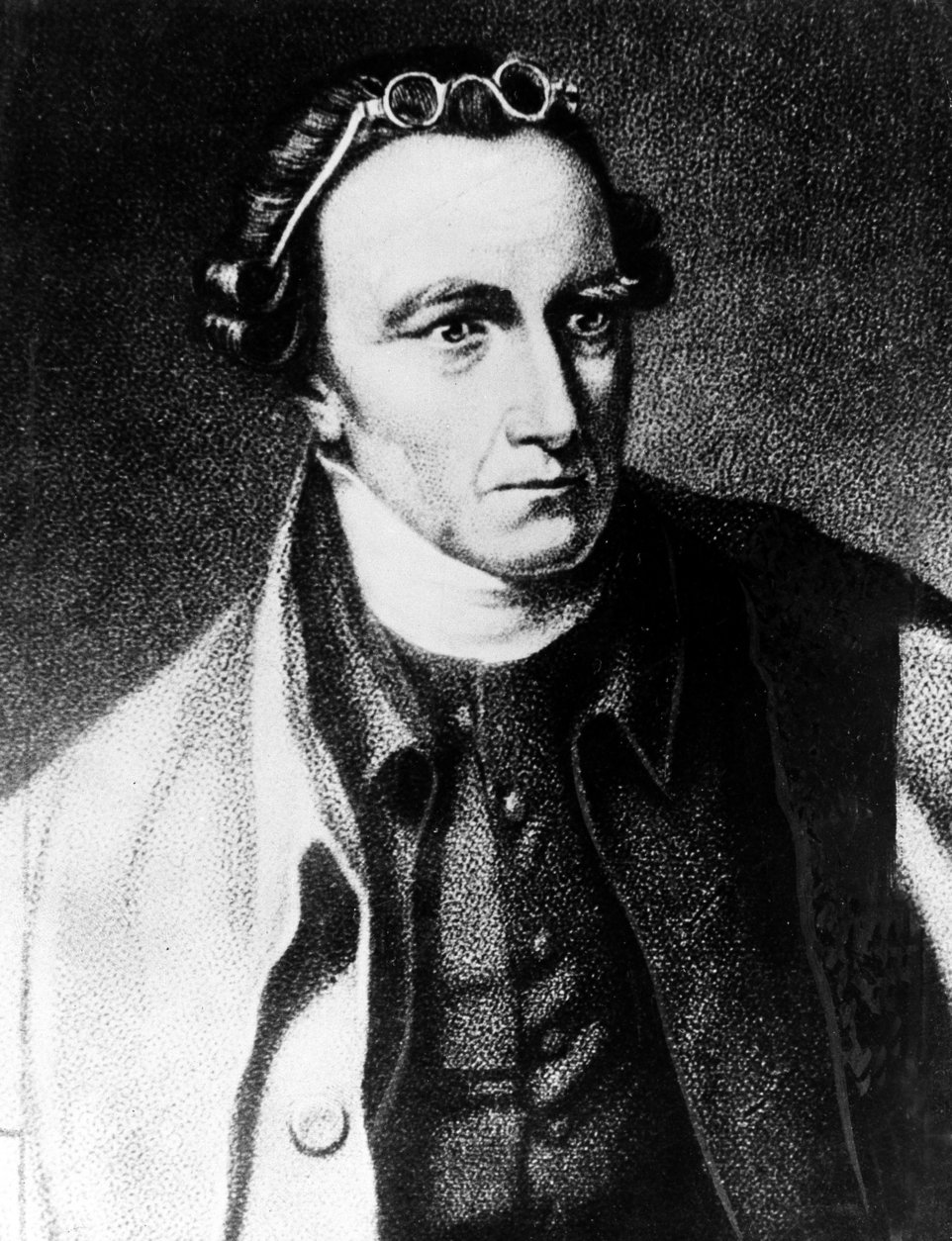 This is an undated portrait of American patriot Patrick Henry.  Henry was born in 1737 in Virginia, where he served as governor from 1776 to 1779 and 1784 to 1786.  He contributed to the adoption of the Bill of Rights.  (AP Photo)