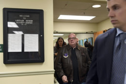 Maryland Gov. Larry Hogan walks out of Loffler Senior Center, in Great Mills., Md., following a news conference, Tuesday, March 20, 2018, on the shooting at Great Mills High School. (AP Photo/Susan Walsh)
