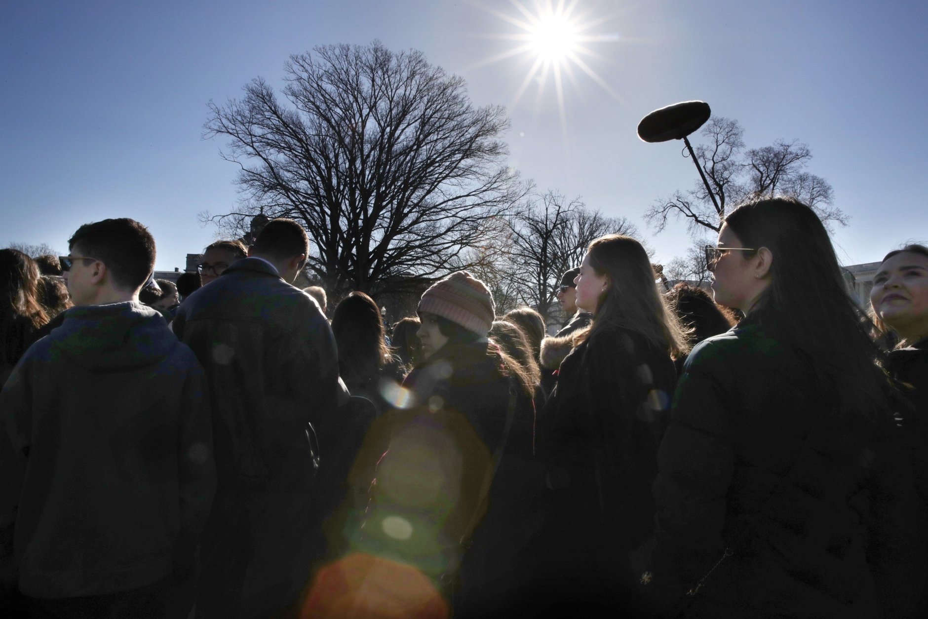 Students from Marjory Stoneman Douglas High School in Parkland, Fla., attend a news conference about gun violence, Friday, March 23, 2018, on Capitol Hill in Washington, ahead of the Saturday March For Our Lives. (AP Photo/Jacquelyn Martin)