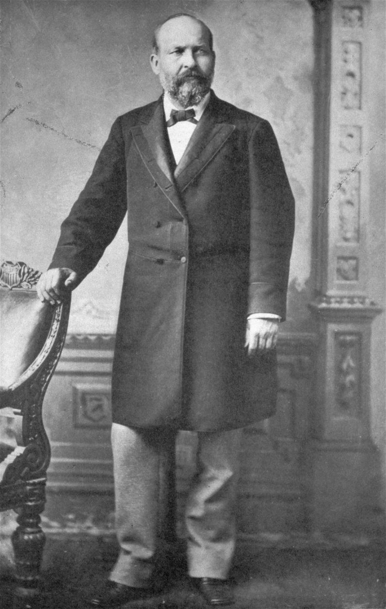An undated Mathew Brady photo of James A. Garfield, 20th president of the United States (1881).  On July 2, 1881, Garfield was shot by a mentally disturbed office-seeker, Charles J. Guiteau, while entering a railroad station in Washington, D.C.  He died on September 19, 1881.  (AP Photo/Mathew Brady)