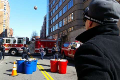 Police set up beer pong, impaired vision goggles to discourage drunken driving