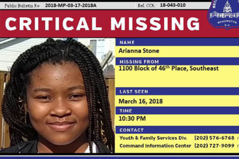 Police ask public to help find missing girl from Southeast DC