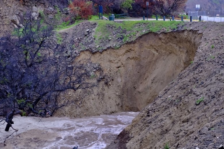 Storm puts California towns at risk of slides