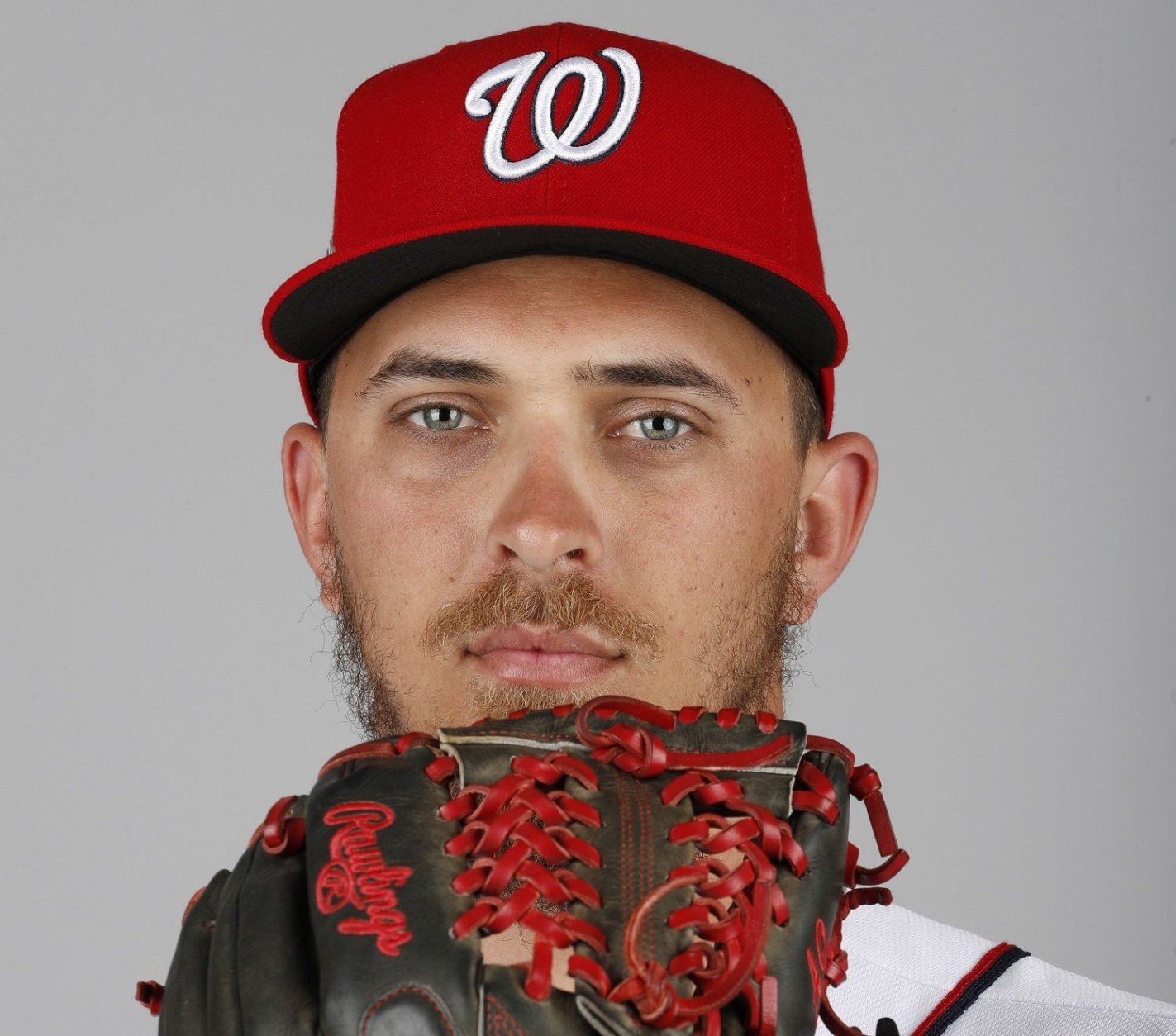 This is a 2018 photo of A.J. Cole of the Washington Nationals baseball team. This image reflects the Nationals active roster as of Feb. 22, 2018 when this image was taken. (AP Photo/Jeff Roberson)