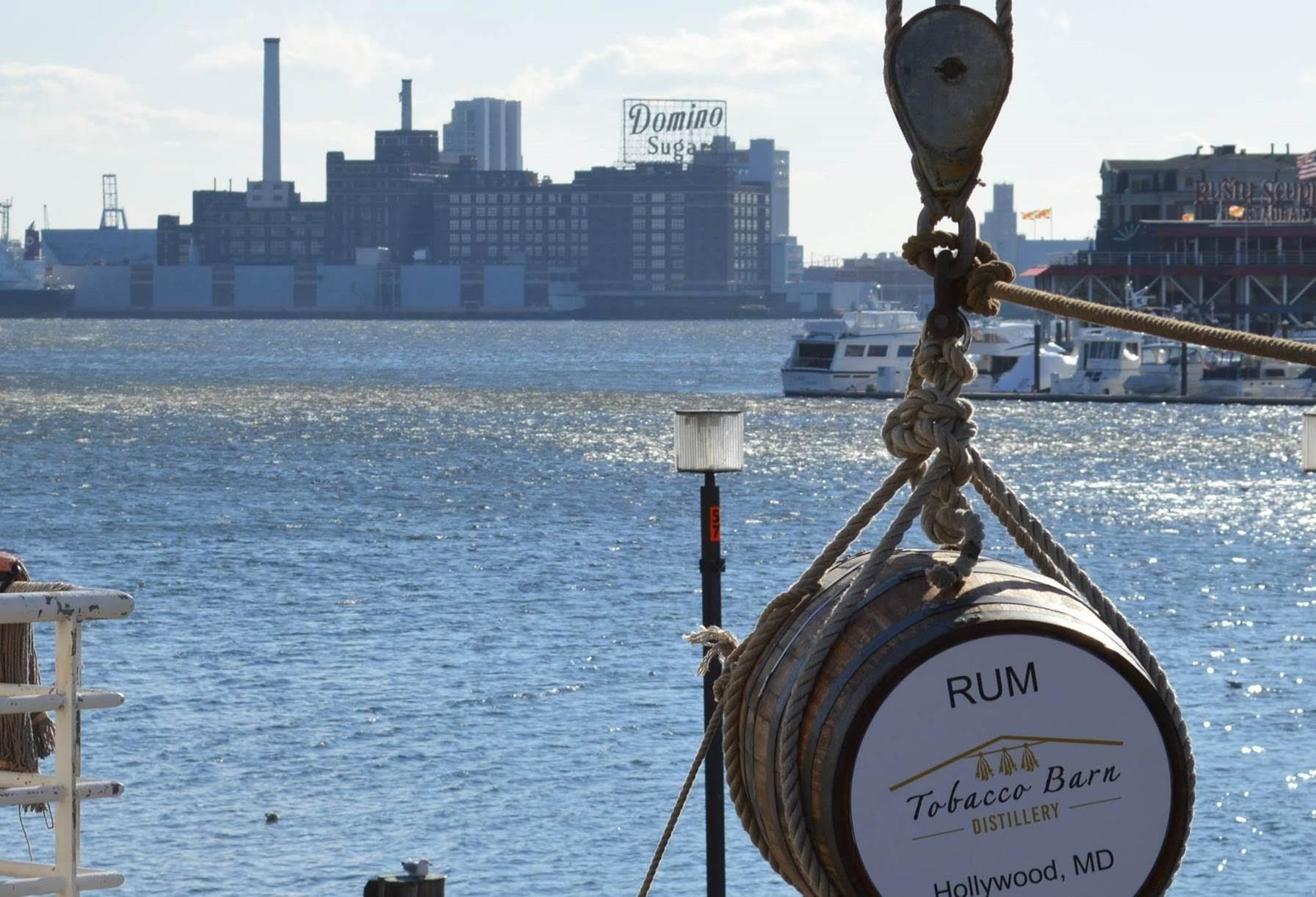 Down in the hold of the historic U.S.S. Constellation in Baltimore's Inner Harbor are four barrels of rum that have been aging on the ship for a year.  (Courtesy Tobacco Farm Distillery)