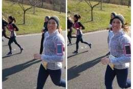 WTOP's own Sarah Beth Hensley runs in the 2018 Rock 'n' Roll Marathon in D.C. (WTOP/Brandon Millman)