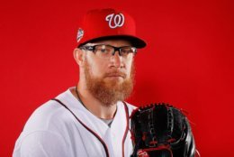 WEST PALM BEACH, FL - FEBRUARY 22:  Sean Doolittle #62 of the Washington Nationals poses for a photo during photo days at The Ballpark of the Palm Beaches on February 22, 2018 in West Palm Beach, Florida.  (Photo by Kevin C. Cox/Getty Images)
