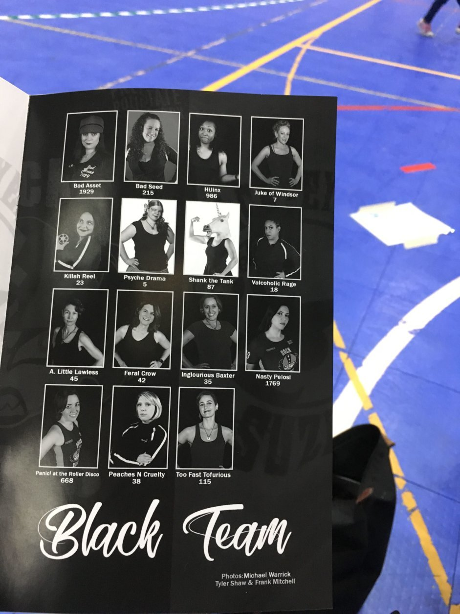 A photo of the team roster. (WTOP/Liz Anderson)