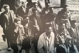Students rally during the shutdown at Howard University in 1968. (Courtesy Anthony Gittens)