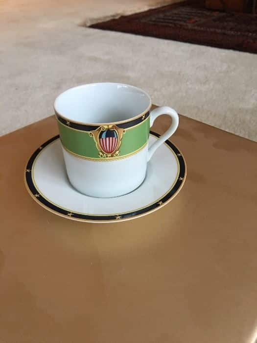 Official U.S. Capitol china from John Glenn's estate. (Courtesy Greater Washington Estate Services)