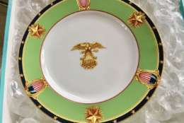 A plate from John Glenn's estate. (Courtesy Greater Washington Estate Services)