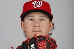 This is a 2018 photo of Trevor Gott of the Washington Nationals baseball team. This image reflects the Nationals active roster as of Feb. 22, 2018 when this image was taken. (AP Photo/Jeff Roberson)