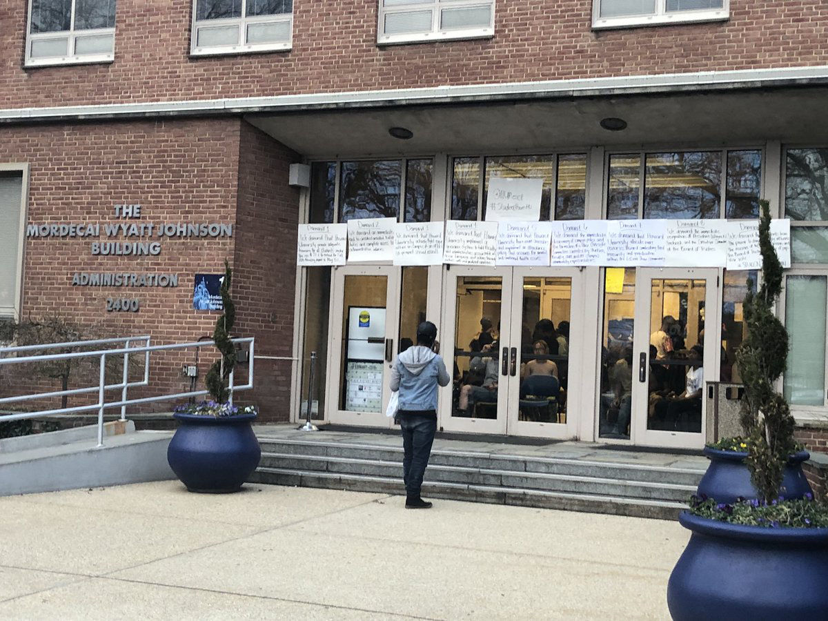Last month's news of the misappropriation sparked a nine-day student protest and occupation of Howard University's administration building. That protest ended Friday. (WTOP/Melissa Howell, file)