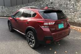The styling has been updated; while it's not a huge departure from before, the new Crosstrek does look more like a crossover than the tall wagon. Additionally. power comes from a four-cylinder engine with 152 horsepower. Parris managed 29.5 mpg for the week. (WTOP/Mike Parris)