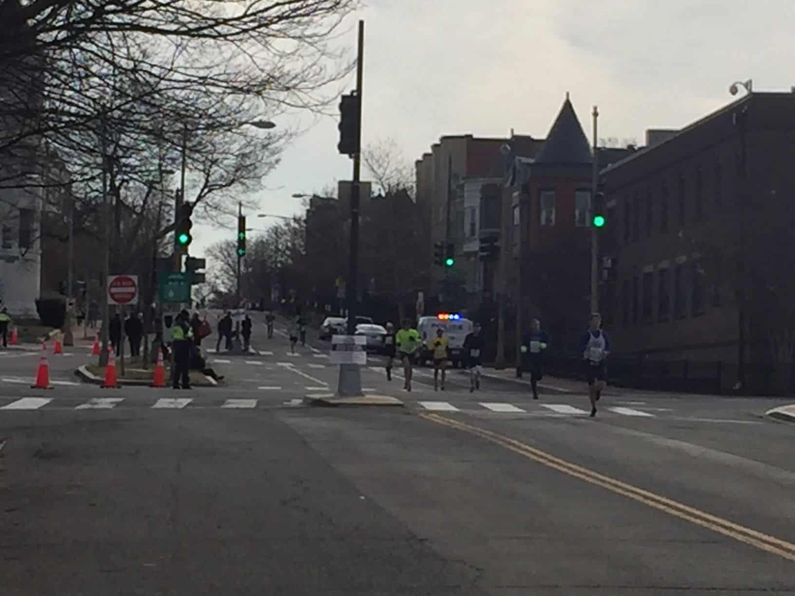 Roads stand empty of traffic for Saturday's Rock 'n' Roll Marathon. (WTOP/John Domen)