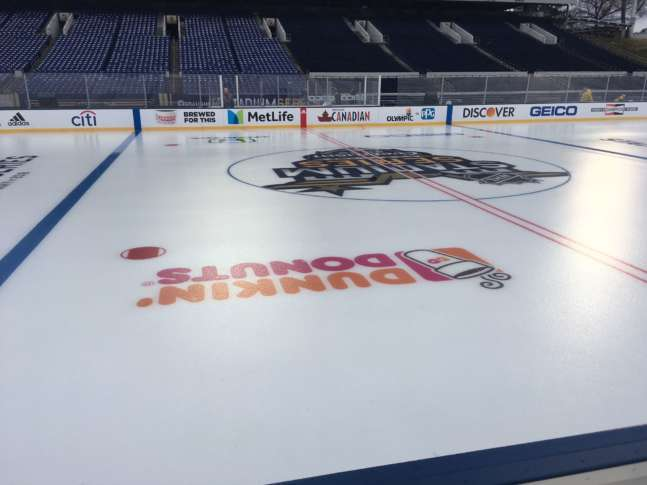 The view from the Toronto Maple Leafs bench at ice level. (WTOP Noah Frank) ec860077563a