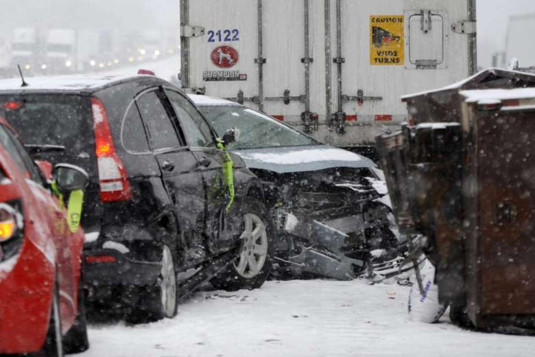 Cars Remain At The Scene Of A Multi Vehicle Pileup On Interstate 94 In Southern Michigan Friday March 9 2018 J Scott Park Jackson Citizen Patriot