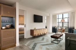view of corner king suite at Canopy hotel in North Bethesda