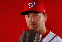 WEST PALM BEACH, FL - FEBRUARY 22:  Brandon Kintzler #21 of the Washington Nationals poses for a photo during photo days at The Ballpark of the Palm Beaches on February 22, 2018 in West Palm Beach, Florida.  (Photo by Kevin C. Cox/Getty Images)