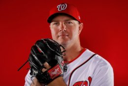 WEST PALM BEACH, FL - FEBRUARY 22:  Ryan Madson #44 of the Washington Nationals poses for a photo during photo days at The Ballpark of the Palm Beaches on February 22, 2018 in West Palm Beach, Florida.  (Photo by Kevin C. Cox/Getty Images)