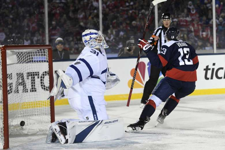 Leafs pull Andersen after 5 goals outdoors against Capitals  63ea3ac7449