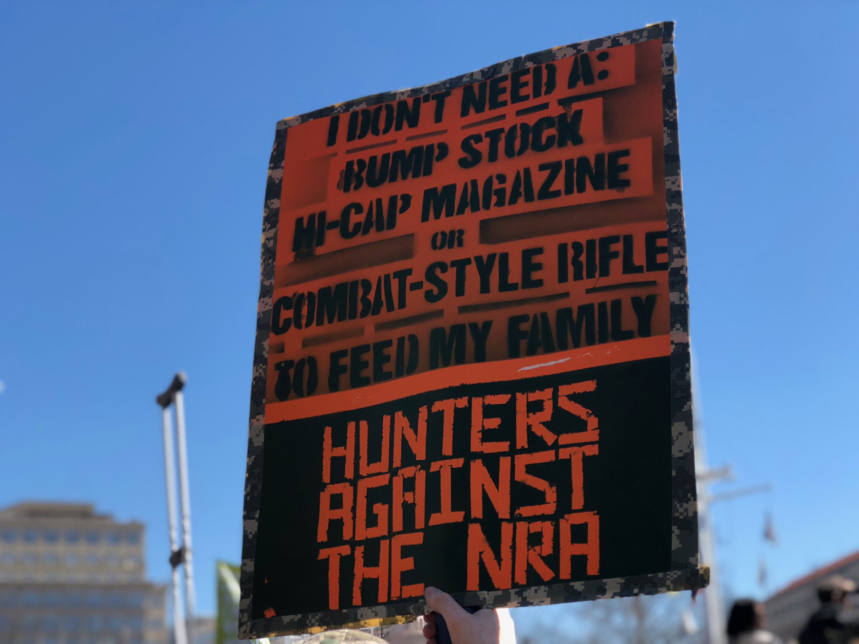 One of the many signs at the March For Our Lives Rally Saturday. (WTOP/Kate Ryan)