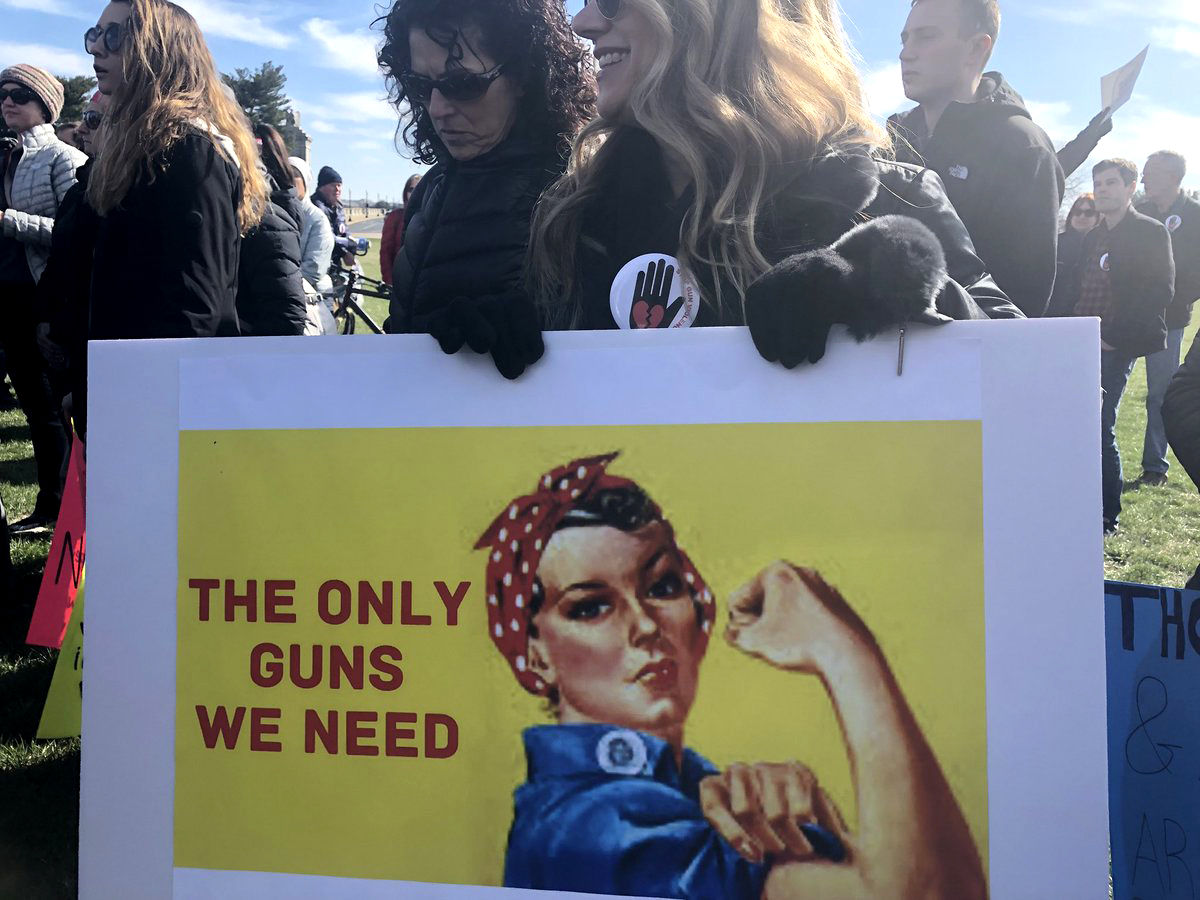A sign from Saturday's March For Our Lives rally. (WTOP/Melissa Howell)
