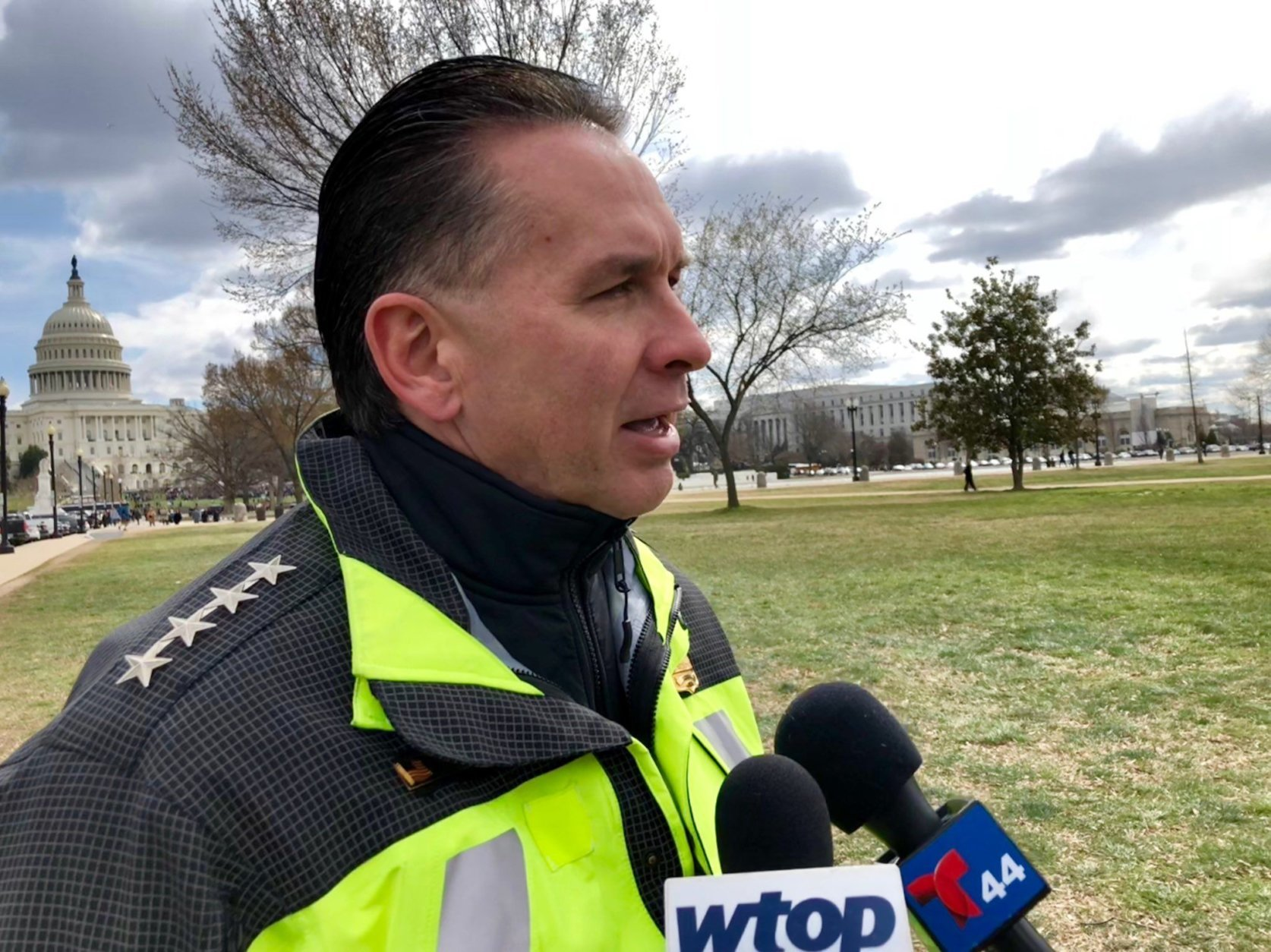 D.C. police Chief Peter Newsham announced an arrest in the Marty McMillan case on Tuesday. (WTOP/Megan Cloherty, file)