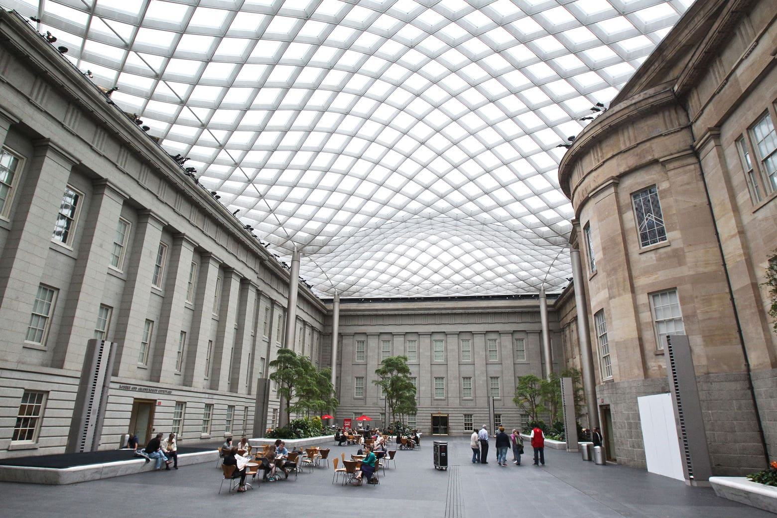 The Robert and Arlene Kogod Courtyard at the National Portrait Gallery, one of 18 Smithsonian Institutions in D.C. (Courtesy of the Smithsonian's National Portrait Gallery)