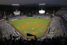 Dodgers Stadium, seen here during the 2017 World Series, is the third oldest stadium in baseball but its only No. 11 on the list with average cost of $73.83. File. (AP Photo/Tim Donnelly)